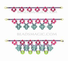 Free pattern for beaded necklace May Day   U need: seed beads 11/0 bicone beads 4- 6 mm pearl beads 4-6 mm faceted beads 8 – 10 mm