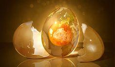 Egg Planet. Fantastic Globe Photo Manipulation