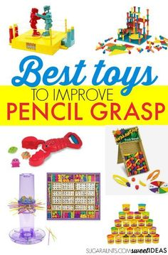 Gift Guide Toys to Improve Pencil Grasp - The OT Toolbox Diy For Kids, Crafts For Kids, Help Kids, Learning Activities, Activities For Kids, Montessori, Tissue Paper Art, Handwriting Activities, Improve Your Handwriting
