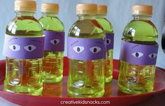 Got a Teenage Mutant Ninja Turtle fan in the house? Try these Ninja Turtle Apples for a party favor. Ninja Turtle Party, Ninja Turtles, Ninja Party, Ninja Turtle Birthday, Turtle Birthday Parties, Birthday Ideas, 4th Birthday, Birthday Images, Party Drinks