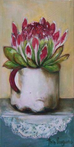 Resultado de imagen para abstract oil painting of proteas Flor Protea, Protea Art, Protea Flower, Oil Painting Abstract, Watercolor Paintings, Cottage Art, Acrylic Flowers, Art Pictures, Flower Art