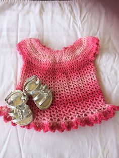 Pink sparkly baby dress