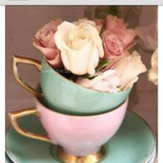teal Pink and Gold and cream color inspiration