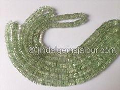 Green Amethyst Smooth Tube Gemstone Beads.