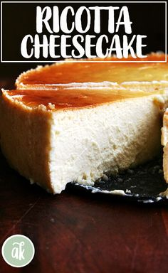 The virtues of this silky lemon-ricotta cheesecake, made with both ricotta and mascarpone, are countless: it is super easy; it can be made a day in advance; it feeds many people; and people love it. Lemon Ricotta Cheesecake, Cheesecake Recipes, Dessert Recipes, Ricotta Cheese Cake Recipes, Italian Cheesecake, Ricotta Pie, Flan, Salty Cake, Savoury Cake