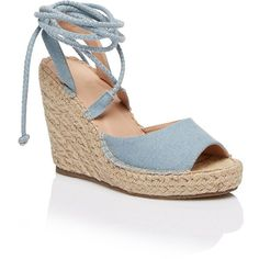 DARCY ESPADRILLE WEDGE HEEL (200 PEN) ❤ liked on Polyvore featuring shoes, sandals, espadrille shoes, wedge heel sandals, espadrille wedge shoes, wedge heel shoes and rubber sole shoes