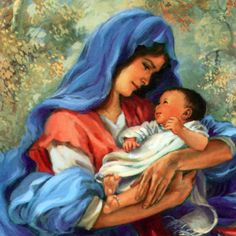 Blessed Mother and Baby Jesus Robert Sauber
