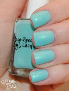 Blue-Eyed Girl Lacquer: Monster's Tea at Tiffany's (Core Collection) #blueeyedgirllacquer #begl #beglove #swatch #indiepolish