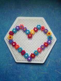 Handicraft ideas for Mother's Day Handicrafts with children, HAMA, ironing beads, Perler Beads, . Easy Perler Bead Patterns, Melty Bead Patterns, Perler Bead Templates, Diy Perler Beads, Perler Bead Art, Beading Patterns, Easy Perler Beads Ideas, Hama Bead Boards, Peyote Patterns