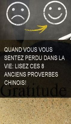 Quand vous vous sentez perdu dans la vie: Lisez ces 8 anciens proverbes chinois! #Vie #Lavie