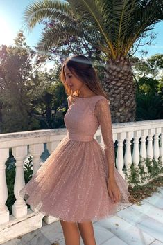 Pink Long Sleeves Short Homecoming Dresses Backless Sequin Dresses Pink Long Sleeves Short Homecoming Dresses Backless Sequin Formal Dres – Phylliscouture Source by dresses School Dresses, Hoco Dresses, Gala Dresses, Homecoming Dresses, Casual Dresses, Fashion Dresses, Elegant Dresses, Sexy Dresses, Sparkly Dresses