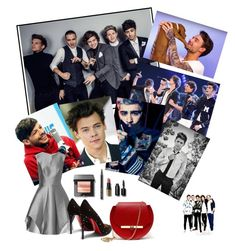 """""""One Direction"""" by fun-me ❤ liked on Polyvore featuring Payne, Halston Heritage, Christian Louboutin, Angela Valentine Handbags and Bobbi Brown Cosmetics"""