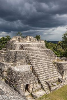 Caracol is the largest known Maya site in Belize and one of the biggest in the Maya world. Caracol had an estimated population of 180,000 people. The enormous central core area covered 15 square miles. Credit: Patrick J Endres