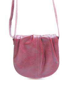c41e05b29c7 Bolsa de couro pequena Meg bordeaux - LEPRERI - small leather handbag made  in brasil purple violet