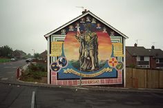 Lenadoon Avenue wall mural, Lenadoon...Belfast - Cú Chulainn Mural  by © Sam.Seyffert, via Flickr Belfast Murals, Irish Republican Army, Belfast Northern Ireland, The Mick, Fall In Luv, Space Drawings, Irish Culture, Irish Celtic, Fighting Irish