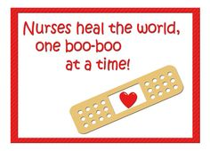 One boo-boo at a Time Nurses Day Greeting card by Liz Van Steenburgh