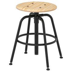 IKEA KULLABERG stool Adjustable feet make it stand steady also on uneven floors. Ikea Ps, Desk Chair, Swivel Chair, Chair Cushions, Banquette Ikea, Ikea Bank, Hacks Ikea, Kiefer, Acacia Wood