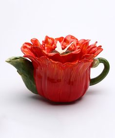 This Gerbera Daisy Teapot is perfect! #zulilyfinds