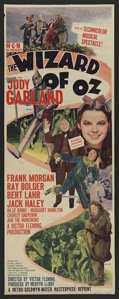 Best Film Posters : Judy Garland Wizard of Oz Classic Movie Poster giclee reproduction either fram Old Movie Posters, Classic Movie Posters, Movie Poster Art, Classic Movies, Vintage Posters, Original Movie Posters, Cinema Posters, Original Song, Wizard Of Oz Movie