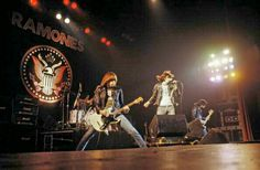 The Ramones on stage.