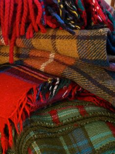 Love the look and soft feel of plaid wool blankets