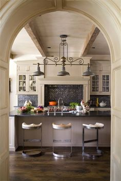 I think we have mentioned our love for arches! Also the backsplash tile is a unique choice that works!