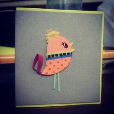 Miniature Birdy greeting template!