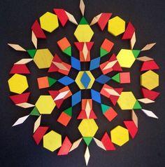 Pattern block snowflakes