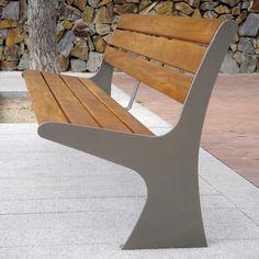 Public bench / contemporary / teak / steel ESTIL Joma Soluciones Urbanas