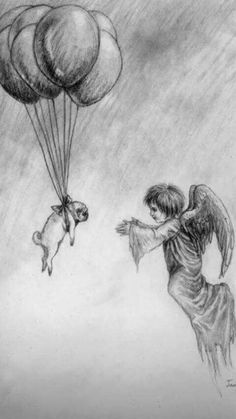 Pug balloons an angel Tattoo Perro, Pug Tattoo, Tattoos, Animals And Pets, Cute Animals, Pet Remembrance, Pugs And Kisses, Pug Art, Cute Pugs