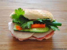 Mini Vietnamese meat combo sandwich (Banh Mi Thit)