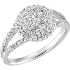 SALE 14kt White Gold 5/8 CTW Diamond Engagement Ring Size 7 - 50% OFF SRP #DiamondEngagementRing