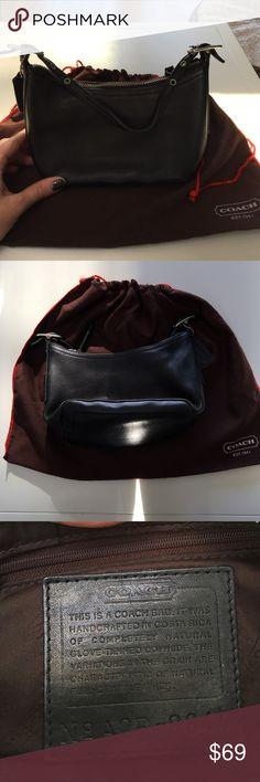 "Coach Black Leather Mini Demi Hobo Excellent condition.  A2P-9844, Coach, Black Leather, Small Bag Purse, Mini Demi Hobo.  9"" long x 5"" tall Coach Bags"