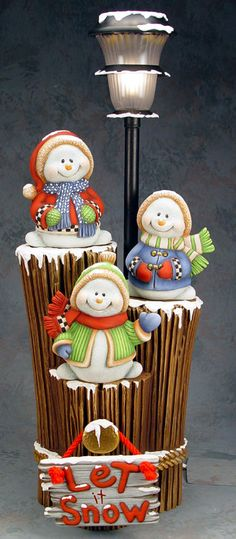Cerámica Biscuit Clay Magic 3 muñeco de nieve por Mirage76 en Etsy