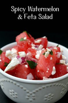 For your next BBQ, picnic or party, serve this light and refreshing Spicy Watermelon and Feta Salad. Your guests will beg for the recipe!