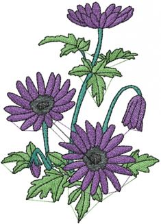 Free Embroidery Design: Anemone Flower