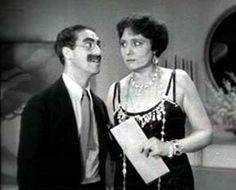 Groucho Marx & Margaret Dumont in Duck Soup