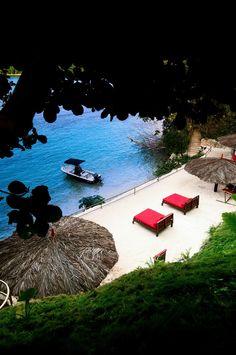 Geejam Hotel in Port Antonio, Jamaica ~ this beach hotel has its own recording studio.