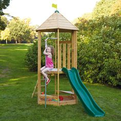 Castlewood Climbing Frame - We don't all have huge back gardens, but it's important to give your kids some space to climb, slide and explore; they'll learn some empowering lessons in self confidence and important life skills (it's the best way to pink up their cheeks too).