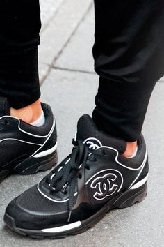 Cool and fab - chanel sneakers #fashion #accessories #shoes