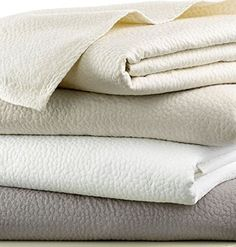 #cool Blissful comfort and serenity is created with this beautifully detailed #Barbara #Barry Beautiful Basics Cloud Nine Coverlet. Supremely soft fabric and mate...