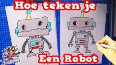 Hoe Teken Je Een Cartoon Robot? (Leren Tekenen Met Kids) #1