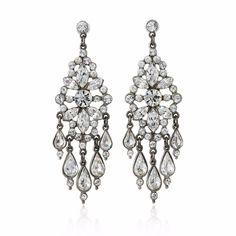 Ben-Amun Bridal Crystal Chandelier Earrings