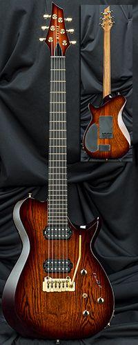 Kiesel Guitars SCB6T Single-Cutaway Bevel-Top Guitar with Wilkinson Tremolo Serial Number 115325