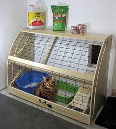 petouthouse1 garage litter box Cat Enclosure, Cat Room, Outdoor Cats, Space Cat, Cat Furniture, Diy Stuffed Animals, Crazy Cats, Pet Care, Animals And Pets