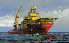 壁紙をダウンロードする 海, 図, 海底のバイキング, 供給器, ノルウェー