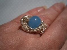 Weiteres - Ring,blau,serenity blue,Naturschmuck,wirework - ein Designerstück von…