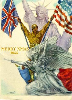 Bill DeCew sent this heroic Christmas card from Paris to the Audits Division in 1944. (Bill DeCew Letters, Audit Division Records, OSA)