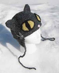 Free Crochet Crazy Cat Hat Pattern....