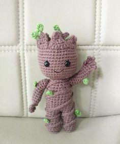"""Please note that this is an instant download PDF crochet pattern for little Groot vol2 and NOT the actual crochet doll. The finished sized is approximately 7.5"""" x 5.5"""" His arms are posable so you can move them up or down. Hes super cute and a great gift for any Marvel fans! Please do not sell, distribute, or claim this pattern as your own. The characters in this pattern are created solely as fan art and are not meant to be exact or direct representations of any copyrighted characters or…"""